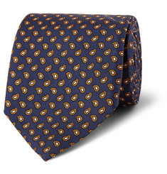 Dunhill - Paisley-Print Mulberry Silk Tie