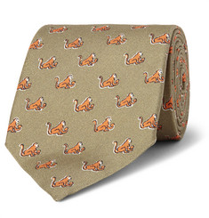 Dunhill - Monkey-Print Silk Mulberry Tie