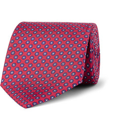 Dunhill Floral-Print Silk Tie