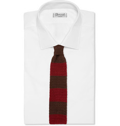 Dunhill Colour-Block Knitted Mulberry Silk Tie