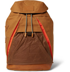 Atelier de L'Armée - Leather-Trimmed Cotton-Canvas Backpack