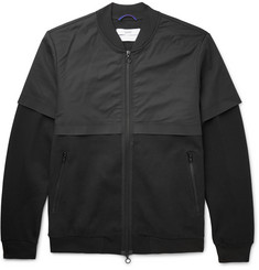 OAMC Black Panelled Cotton-Blend Bomber Jacket