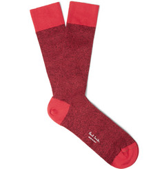 Paul Smith Shoes & Accessories - Marled Cotton-Blend Socks