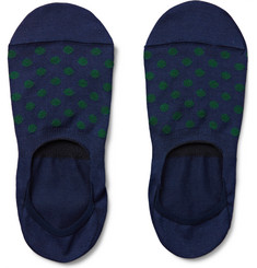 Paul Smith Shoes & Accessories Polka-Dot Cotton-Blend No-Show Socks