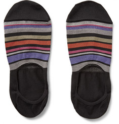 Paul Smith Shoes & Accessories - Striped Cotton-Blend No-Show Socks