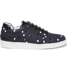 WANT Les Essentiels de la Vie Lennon Embellished Coated Leather Sneakers