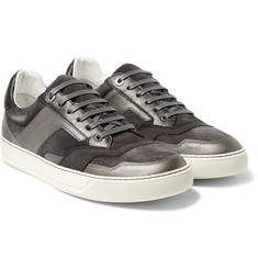 Lanvin - Suede, Nubuck and Metallic Leather Sneakers