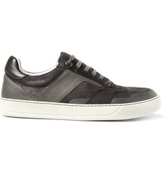 Lanvin Suede, Nubuck and Metallic Leather Sneakers