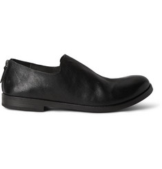 Marsell Washed Full-Grain Leather Loafers
