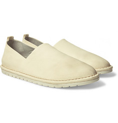 Marsell - Washed Grained-Leather Loafers