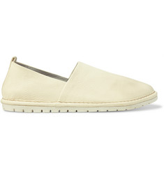 Marsell Washed Grained-Leather Loafers