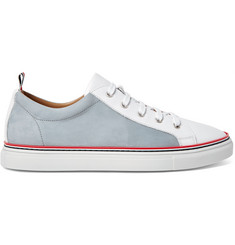 Thom Browne Leather and Nubuck Sneakers