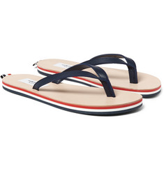 Thom Browne - Striped Leather Flip Flops