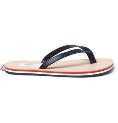 Thom Browne Striped Leather Flip Flops