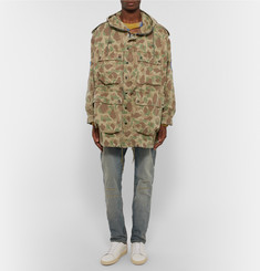 Saint Laurent Camouflage-Print Cotton Parka