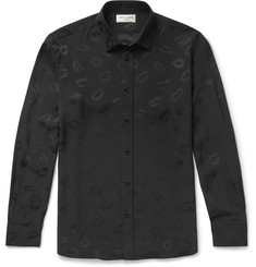 Saint Laurent - Lip-Jacquard Shirt