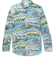 Saint Laurent Hawaiian-Print Voile Shirt