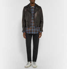 Saint Laurent Checked Stretch-Cotton Shirt