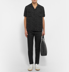 Saint Laurent Polka-Dot Crepe Shirt