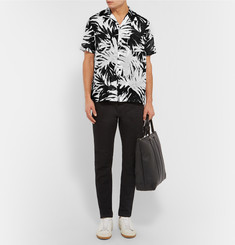 Saint Laurent Palm-Print Cotton Shirt