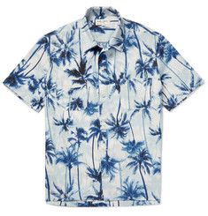Saint Laurent - Palm-Tree Print Cotton Shirt