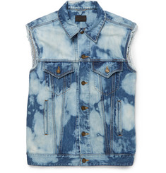 Saint Laurent - Bleached Denim Gilet