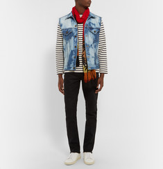 Saint Laurent Bleached Denim Gilet