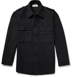 Saint Laurent Stonewashed Cotton Shirt Jacket