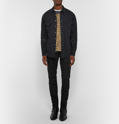 Saint Laurent Slim-Fit Distressed Denim Western Shirt
