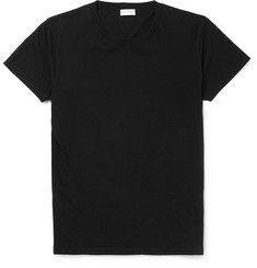 Saint Laurent Distressed Cotton-Jersey T-Shirt