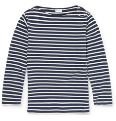 Saint Laurent - Distressed Striped Cotton T-Shirt
