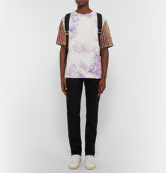 Saint Laurent Tie-Dyed and Leopard-Print Cotton T-Shirt