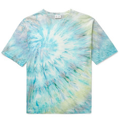 Saint Laurent Tie-Dyed Cotton T-Shirt