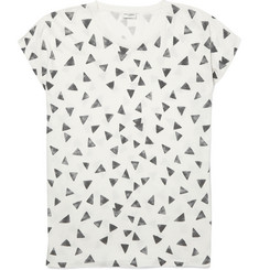 Saint Laurent - Oversized Printed Cotton-Jersey T-Shirt
