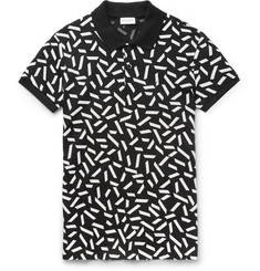 Saint Laurent Printed Cotton-Piqué Polo Shirt