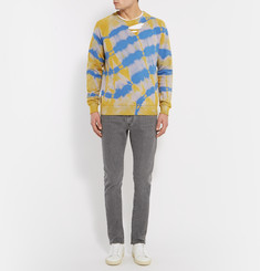 Saint Laurent - Distressed Tie-Dyed Cotton Sweatshirt
