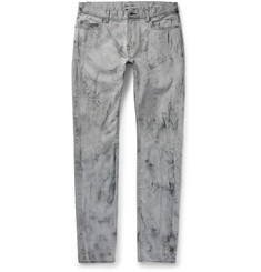 Saint Laurent - Skinny-Fit Marble-Print Stretch-Denim Jeans
