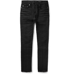 Saint Laurent Skinny-Fit Raw Hem Denim Jeans