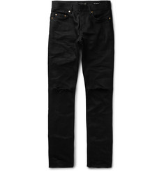 Saint Laurent - Skinny-Fit 17cm Hem Ripped Denim Jeans