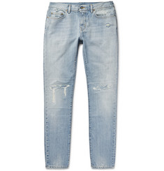 Saint Laurent Skinny-Fit 16cm Distressed Washed-Denim Jeans