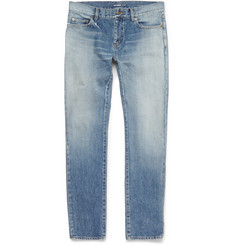 Saint Laurent - Skinny-Fit Faded Washed-Denim Jeans