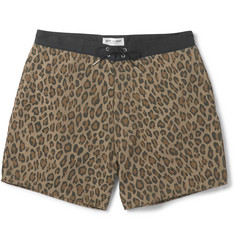 Saint Laurent Leopard-Print Mid-Length Shell Swim Shorts