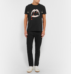 Saint Laurent Blood Lustre Slim-Fit Printed Cotton-Jersey T-Shirt