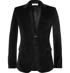 Saint Laurent - Black Slim-Fit Velvet Blazer