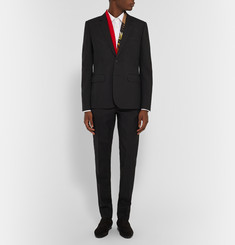 Saint Laurent Black Slim-Fit Virgin Wool-Twill Suit