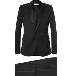 Saint Laurent Black Slim-Fit Virgin Wool Tuxedo
