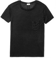 Saint Laurent Slim-Fit Washed Silk-Jersey T-Shirt