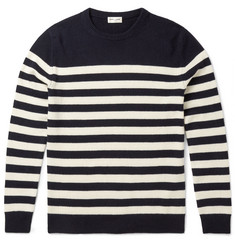 Saint Laurent Slim-Fit Striped Cashmere Sweater