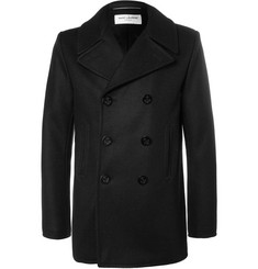 Saint Laurent Double-Breasted Cashmere Peacoat