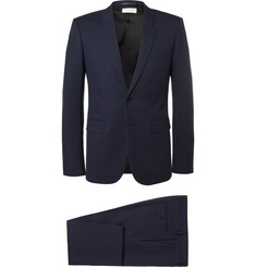 Saint Laurent Navy Slim-Fit Virgin Wool Suit